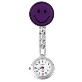 Verpleegstershorloge metal smile lila-paars