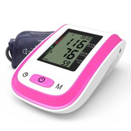 Bloeddrukmeter bovenarm automatisch Roze