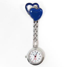 Verpleegkundige horloge metal hart donkerblauw