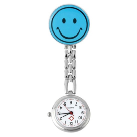 Verpleegstershorloge metal smile lichtblauw