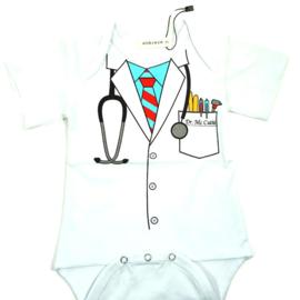 Baby rompertje dokter cutie lichtblauw