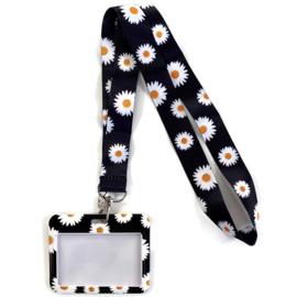 Keycord & pas houder horizontaal - Daisy