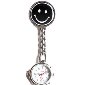 Verpleegstershorloge metal smile zwart
