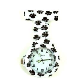 Verpleegkundige horloge schakel & print Happy Paws