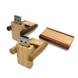 USB-stick Hout- duokleur (licht/grenen)