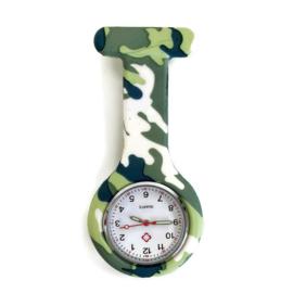 Verpleeghorloge clip camouflage Woodland