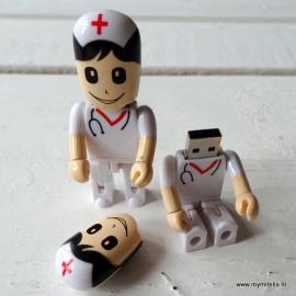 USB stick verpleegkundige wit