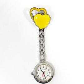 Verpleegkundige horloge metal hart geel
