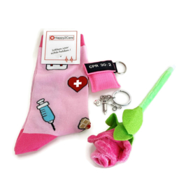 Zorg Cadeau Kiss - Flower & Happy Feet - Roze