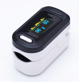 Basic Saturatiemeter - Oximeter - Wit-Zwart - SpO2%- BPM