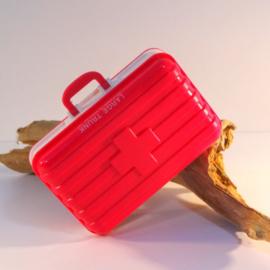 Pillendoosje koffer 6-vaks roze