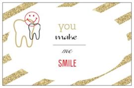 Cadeaukaartje: You make me smile