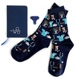 Socks & Notes - Blauw