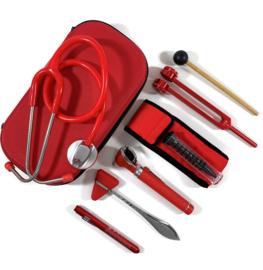 Stethoscoop + instrumenten  medici - Rood
