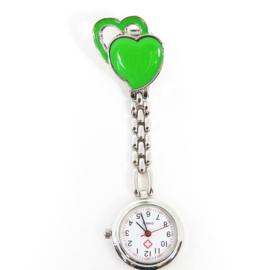 Verpleegkundige horloge metal hart groen