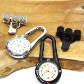 Stoer Medisch horloge Karabijn Haak