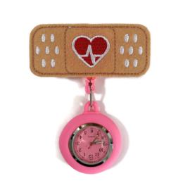 Zorghorloge Flex Pleister heartbeat roze