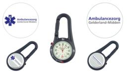 Horloge Karabijn haak zilver + logo
