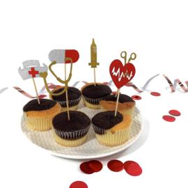 Taart - Cupcake decoratie arts - verpleegkundige en zorg