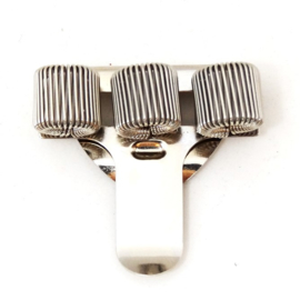 Pennenhouder clip (3 pennen) zilver
