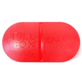 Pillendoosje PILL 6-vaks rood