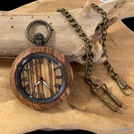 Zakhorloge - doktershorloge hout -WALNOOT