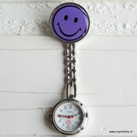 VERPLEEGSTERSHORLOGE SMILE LILA-PAARS