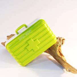 Pillendoosje koffer 6-vaks groen
