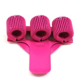Pennenhouder clip (3 pennen) pink