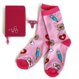 Socks & Notes - Roze