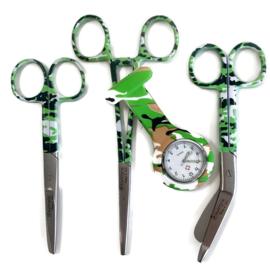 Camouflage groen Style - scharenset & Zorghorloge