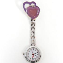 Verpleegkundige horloge metal hart lila