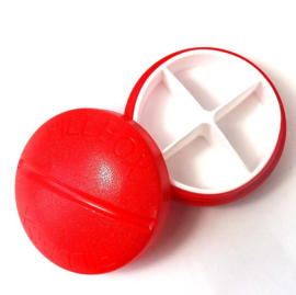 Pillendoosje PILL 4-vaks rood