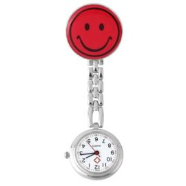 Verpleegstershorloge metal smile rood
