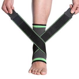 Elastische enkelbandage sportbrace grijs/groen
