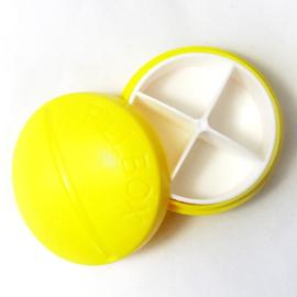 Pillendoosje PILL 4-vaks geel