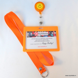 ZIPPER -JOJO + BADGE & LANYARD FACE ORANJE