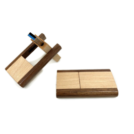 USB-stick Hout - duokleur (donker/noten)