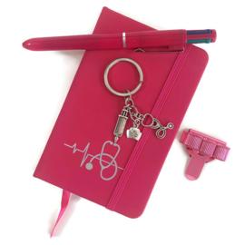 Schrijf & Blijf set voor zorgprofessionals - PINK
