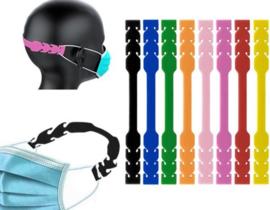 Band voor mondkapje - 8 stuks - mondmasker haakje - mondkapjeshouder