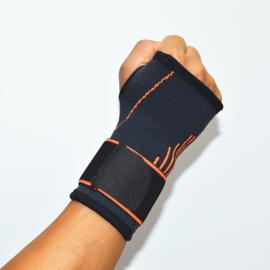 Hand Pols Duimbandage zwart/oranje