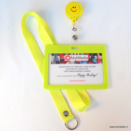 ZIPPER -JOJO + BADGE & LANYARD FACE LIME GEEL