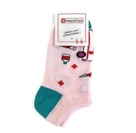 H2C verpleegkundige ENKEL sokken - pink medicine