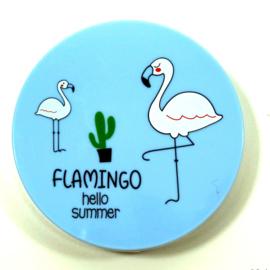 Flamingo Lenzendoosje blauw