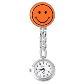 Verpleegstershorloge metal smile oranje