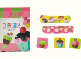 Vrolijke pleisters Cupcake in doosje