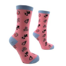 H2C - Sokken Kraamzorg & Verloskunde Roze