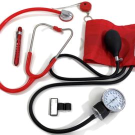 Stethoscoop - bloeddrukmeter & tools Rood