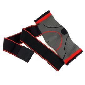 Elastische enkelbandage sportbrace grijs/rood