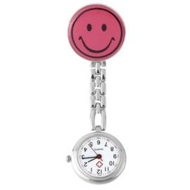 Verpleegstershorloge metal smile pink